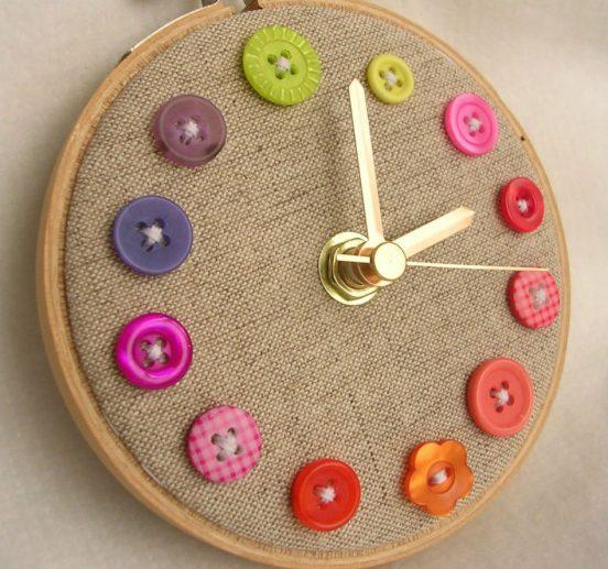 Часы для рукодельницы своими руками