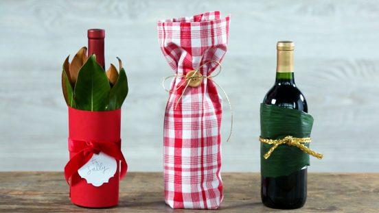 Бутылки вина в оригинальных подарочных упаковках