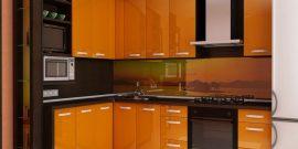 15 идей оформления угловой кухни на 8 кв. м с холодильником