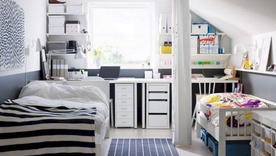 как совместить детскую и спальню родителей