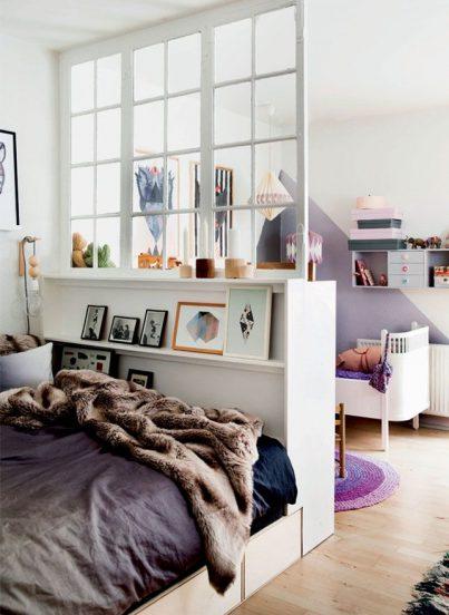 детская зона в спальне родителей
