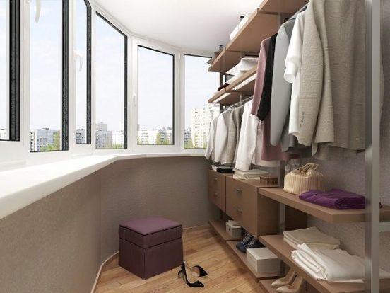 гардеробная на балконе