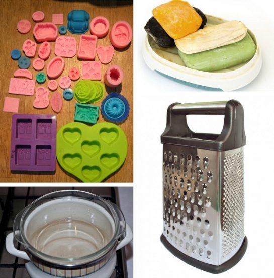 Материалы и инструменты для изготовления мыла из остатков