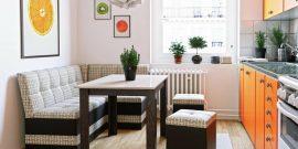 Кухни со встроенным диваном: примеры компактного оформления на фото