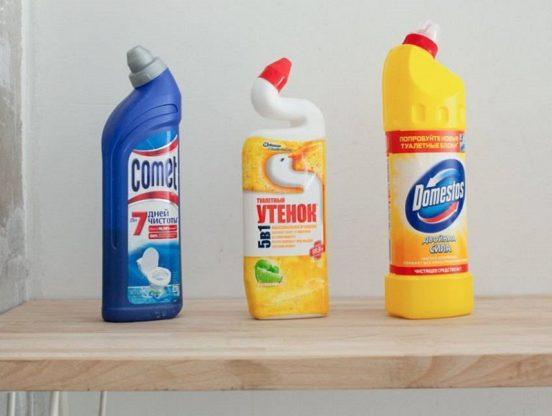средства для чистки унитаза