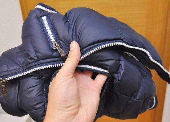 Куртка-пуховик начала блестеть