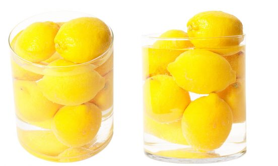 Хранение лимонов в банке с водой