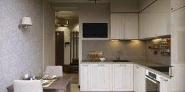 Проект кухни 8 кв. м с холодильником: удобство и практичность