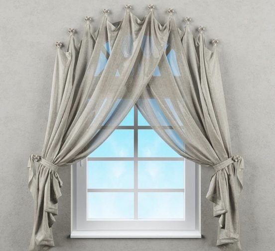на что повесить шторы без карниза