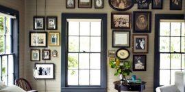 Как креативно повесить фотографии на стене: примеры