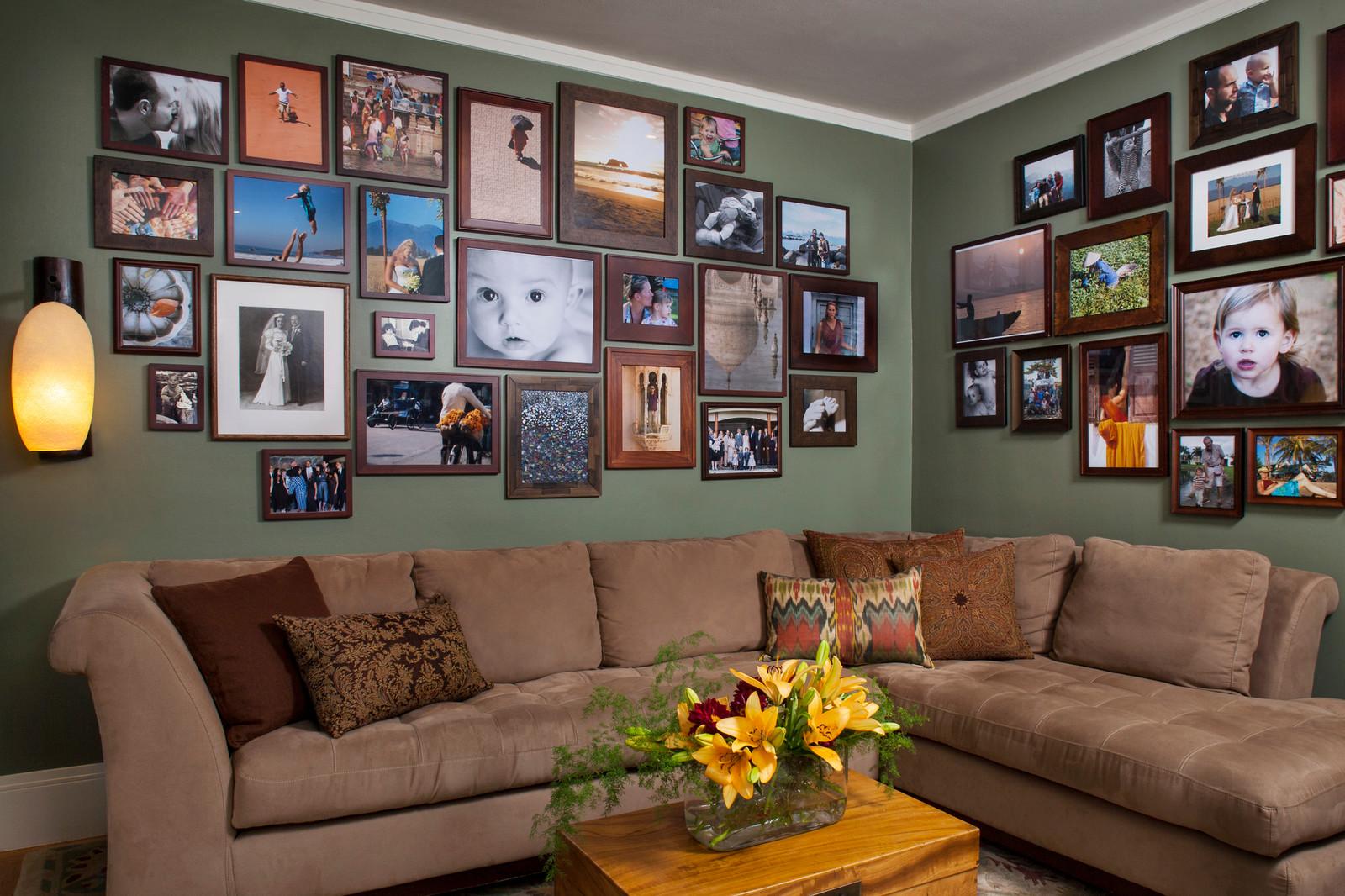 идеи как в доме развесить фотографии озера манит, притягивает