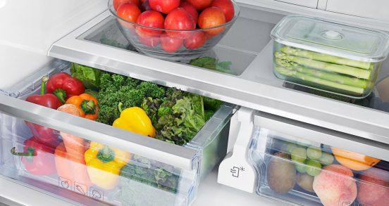 Хранение фруктов и овощей в холодильнике