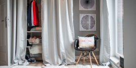 На что вешать одежду в спальне: оригинальные идеи