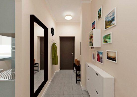Прихожая в узкий коридор