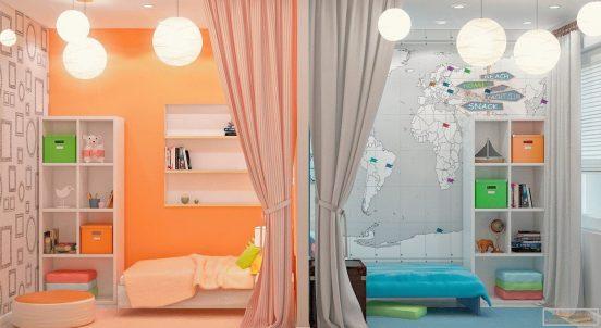 комната для брата и сестры подростков