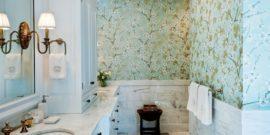 5 видов обоев для ванной, которые устойчивы к влаге и не требуют особого ухода