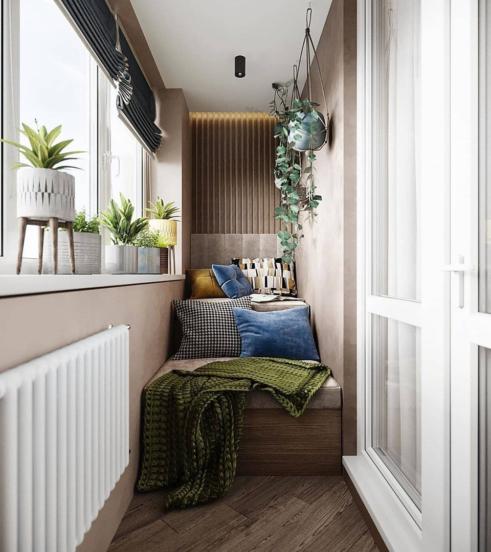 Интересный дизайн утепленной лоджии или балкона