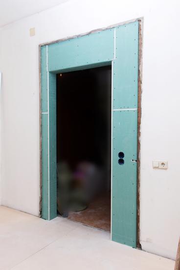 Уменьшение дверного проема при помощи гипсокартона