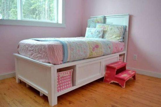 Детская кровать с ящиками своими руками