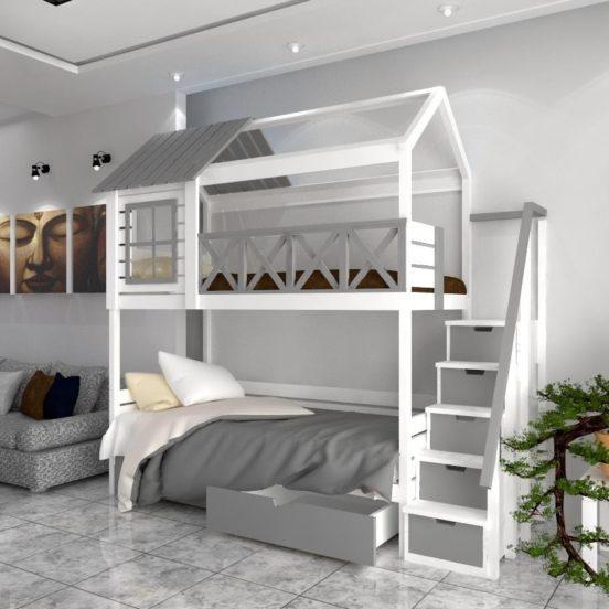 Кровать - чердак с зоной отдыха