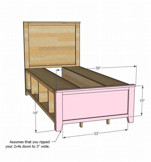 Сборка детской кровати с ящиками