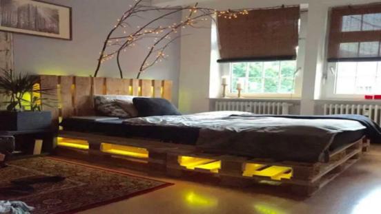 Кровать из поддонов (паллет) своими руками — фото идей, изготовление пошагово