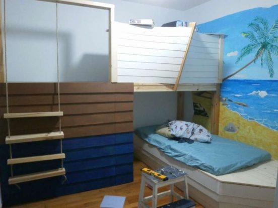 Кровать-корабль своими руками