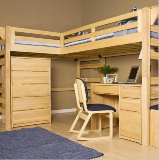 Кровать чердачного типа